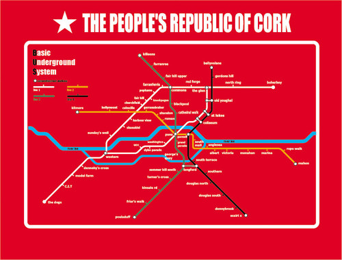 Cork subway map - the Basic Underground System (B.U.S)