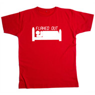 Flahed Out Mens Red T Shirt