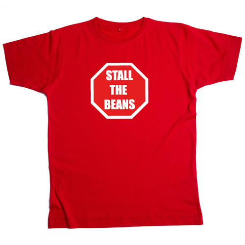 Stall the Beans Mens Red T Shirt