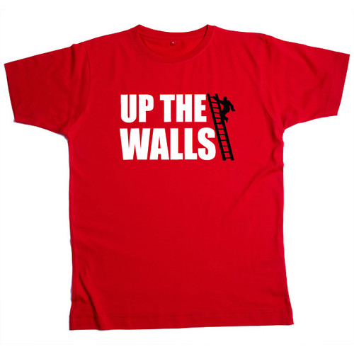 Up The Walls Mens Red T Shirt