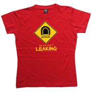 Tunnel Leaking Womens Red T Shirt
