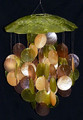 Olive Green Capiz Wind Chime (single)