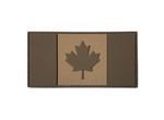 "PVC Morale Patch - Canadian Flag - Tan on Tan 2""x4"""
