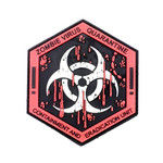 PVC Morale Patch - Zombie Virus Team - Glow in the Dark!