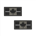 "PVC Morale Patch - Canadian Thin Grey Line - 1""x2"" Supporting Correctional Officers (2pcs)"