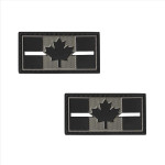 """PVC Morale Patch - Canadian Thin White Line - 1""""x2"""" Supporting Medical Responders (2pcs)"""