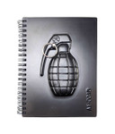 "3D Grenade Cover - Wire Coil Notebook (50pages) 5"" X 7"""