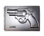 "3D Revolver Cover - Wire Coil Notebook (50pages) 6.5"" X 9"""