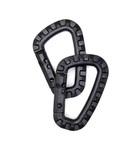 Nylon Carabiner - Black (2pcs)