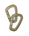 Nylon Carabiner - Tan (2pcs)