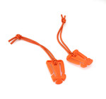 Nylon MOLLE Shock Cord Hold Downs - Orange (2pcs)