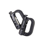 Grimloc MOLLE lockable D-Ring - Black (2pcs)