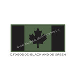 "Canadian Flag - 24"" x 48"" - Black & Green"