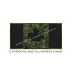 "Canadian Flag - 24"" x 48"" - Digital Forest Camo"