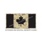 "Canadian Flag - 24"" x 48"" - Digital Desert Camo"
