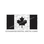 "Canadian Flag - 24"" x 48"" - Digital Arctic Camo"