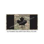 "Canadian Flag - 24"" x 48"" - British MultiCam Camo"