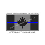 "Canadian Flag - 24"" x 48"" - Thin Blue Line"