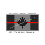 "Canadian Flag - 24"" x 48"" - Thin Red Line - Grey Background"