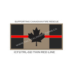 "Canadian Flag - 24"" x 48"" - Thin Red Line - Tan Background"