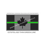 "Canadian Flag - 24"" x 48"" - Thin Green Line"