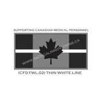 "Canadian Flag - 24"" x 48"" - Thin White Line"