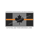 "Canadian Flag - 24"" x 48"" - Thin Orange Line"