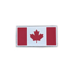 """Reflective Morale Patch - Canadian Flag - Grey Reflective & Red  1.5""""x3"""" - High Visibility Reflective"""