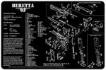 Beretta 92 Pistol Cleaning mat