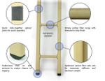 "Carbon Fibre Tactical Ladder -8""wide x 5-Sections"