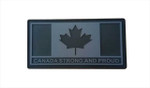 "PVC Morale Patch - Canada Strong and Proud - Urban Grey 1.5""x3"""