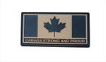 "PVC Morale Patch - Canada Strong and Proud - Tan 1.5""x3"""