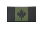 "PVC Morale Patch - Canadian Flag - OD Green 2""x4"""