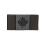 "PVC Morale Patch - Canadian Flag - Urban Grey 2""x4"""