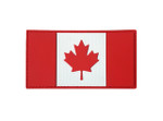 "PVC Morale Patch - Canadian Flag - Red & White 2""x4"""