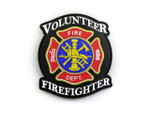 PVC Morale Patch - Volunteer Firefighter