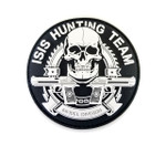 "PVC Morale Patch - ISIS HUNTING TEAM - 3""Dia"