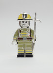 Silver Die-cast Fire Fighter Figure