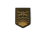 PVC Morale Patch -Provincial Shield - BRITISH COLUMBIA TAN
