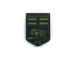 PVC Morale Patch -Provincial Shield - MANITOBA BLACK & OD GREEN
