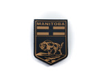PVC Morale Patch -Provincial Shield - MANITOBA TAN