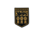 PVC Morale Patch -Provincial Shield - SASKATCHEWAN TAN
