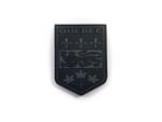 PVC Morale Patch -Provincial Shield - QUEBEC BLACK & GREY