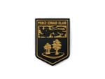 PVC Morale Patch -Provincial Shield - PRINCE EDWARD ISLAND BLACK & TAN