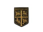 PVC Morale Patch -Provincial Shield - NEWFOUNDLAND AND LABRADOR BLACK & TAN