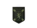 PVC Morale Patch -Provincial Shield - NOVA SCOTIA BLACK & OD GREEN
