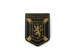 PVC Morale Patch -Provincial Shield - NOVA SCOTIA BLACK & TAN