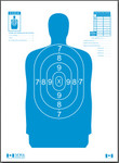 B34 Blue Silhouette Target (100 pack)