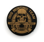 "PVC Morale Patch - ISIS HUNTING TEAM - 3""Dia (Black & Cotoye Tan)"