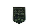 PVC Morale Patch -Provincial Shield - QUEBEC BLACK & OD GREEN